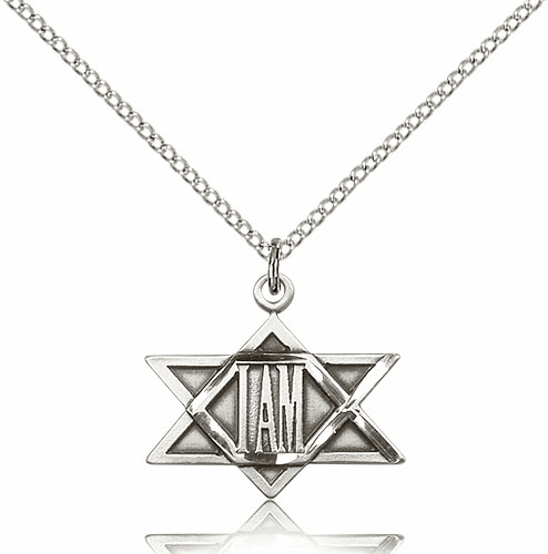 Bliss I AM Star of David Sterling Silver Necklace