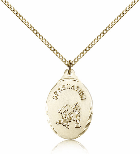 Bliss Manufacturing 14kt Gold-filled Graduation Bevel Edge Pendant w/Chain