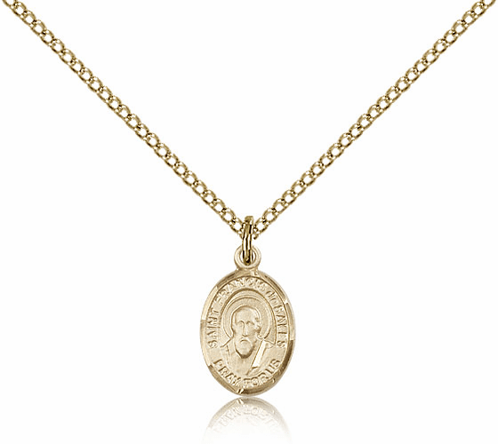 Bliss Manufacturing 14kt Gold Filled St Francis de Sales Pendant