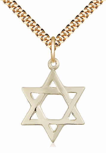 Bliss Manufacturing 14kt Gold-filled Star of David Medal Necklace