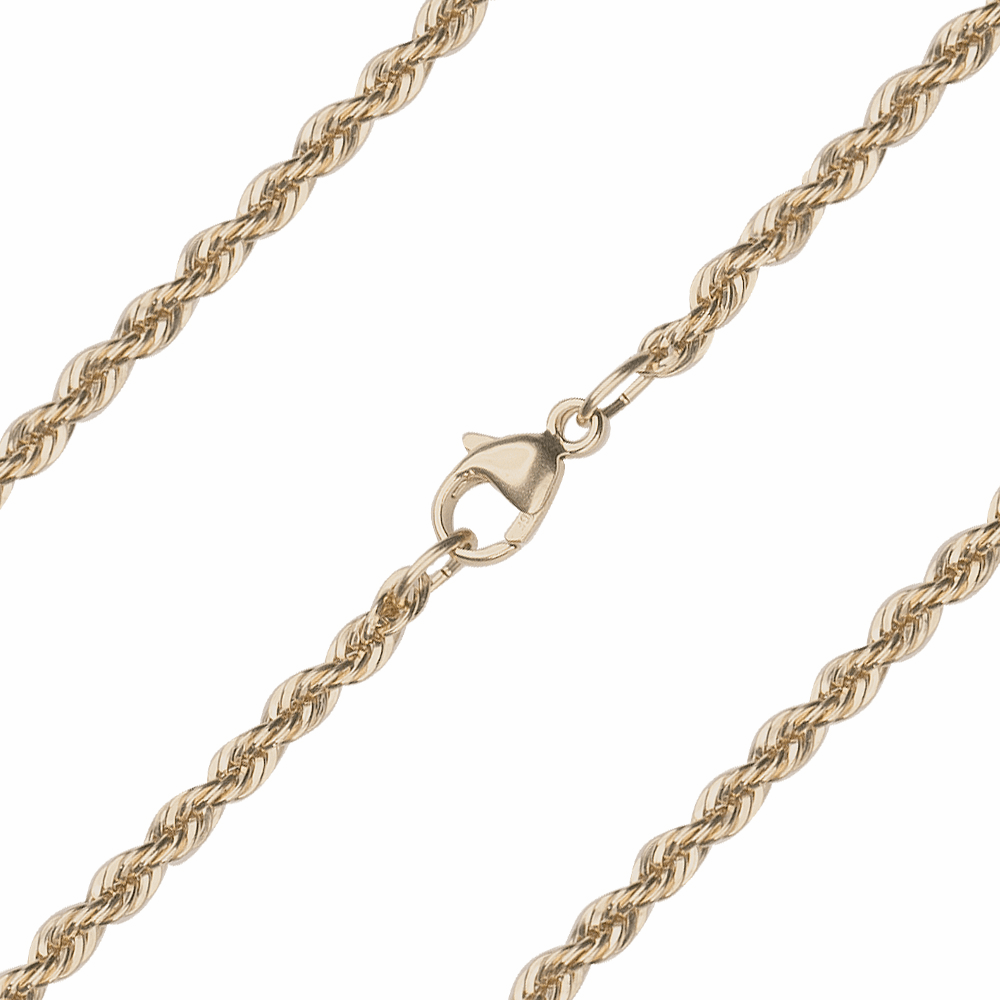 Bliss Manufacturing 14kt Gold French Rope Chain w/Lobster Claw