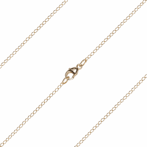 Bliss Manufacturing 14kt Gold Thin Curb Chains
