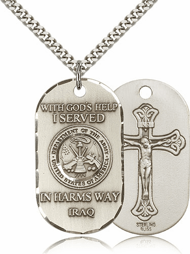 Bliss Manufacturing Army Crucifix Dog Tag Necklace