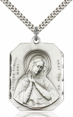Bliss Manufacturing Blessed Virgin Mary Pendant Necklace