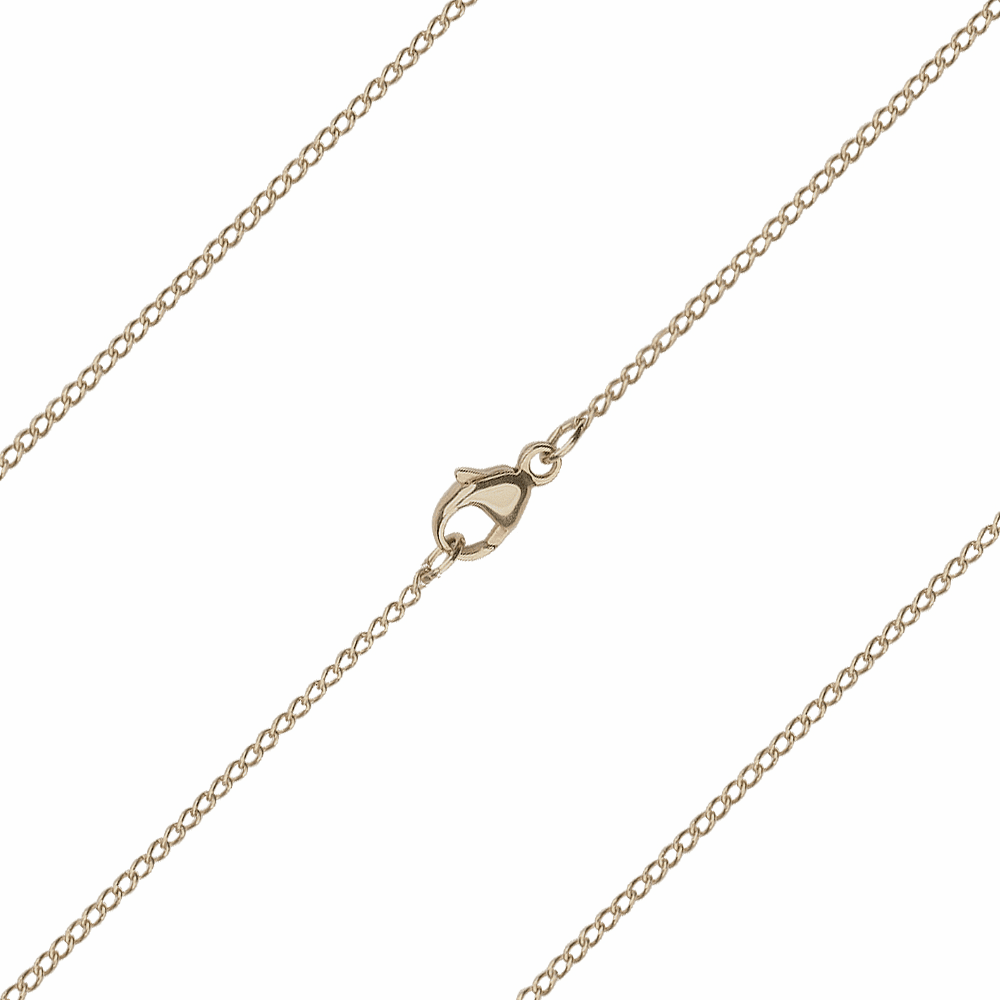 Bliss Manufacturing C04KT 14kt Gold Thin Curb Chain