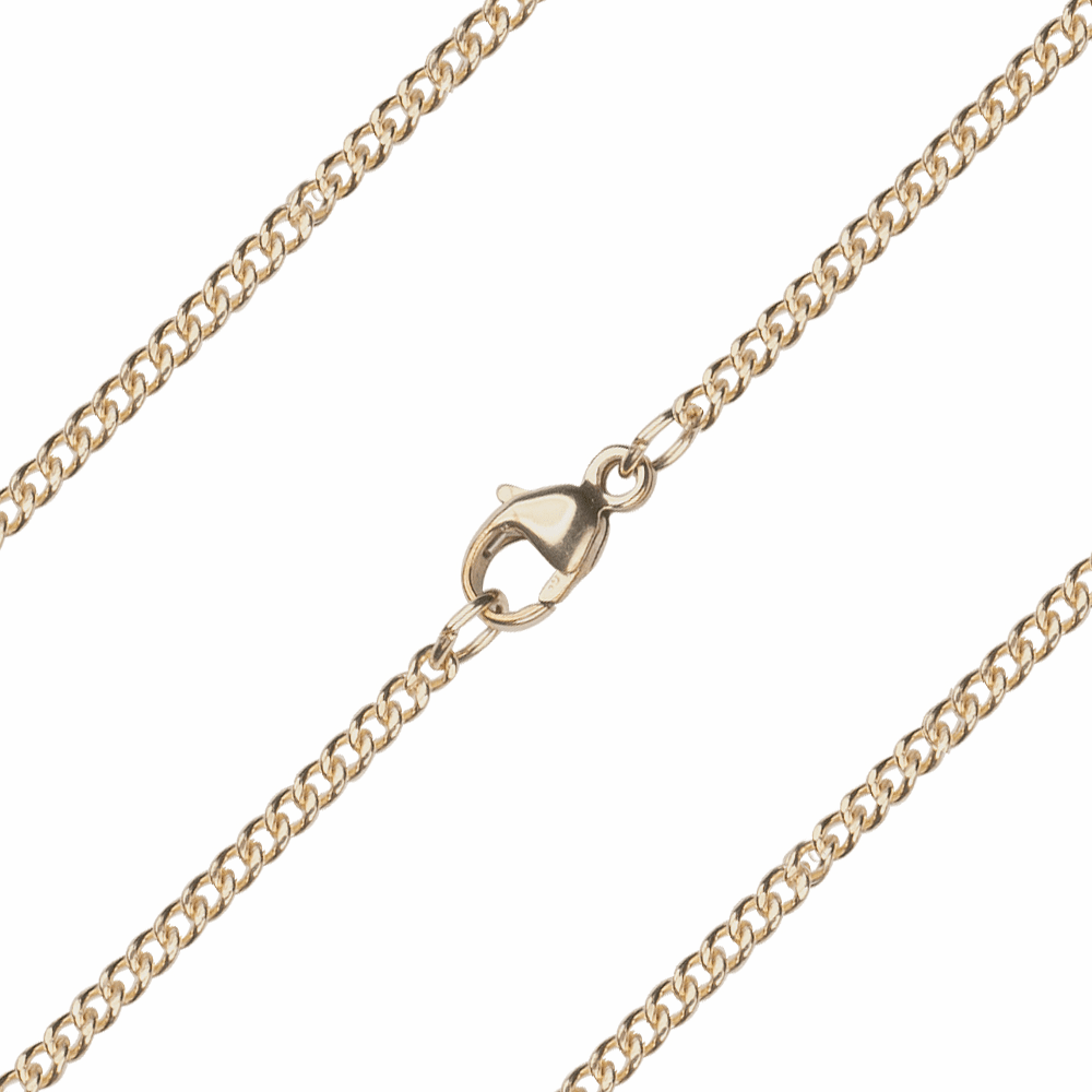 Bliss Manufacturing C08KT 14kt Gold Curb Chain w/Lobster Claw