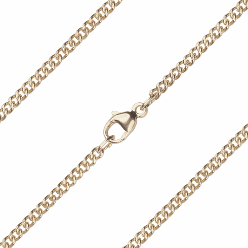 Bliss Manufacturing C09KT 14kt Gold Rope Curb Chain w/Lobster Claw