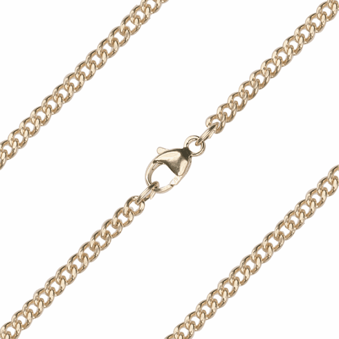 Bliss Manufacturing C10KT 14kt Gold Rope Curb Chain w/Lobster Claw
