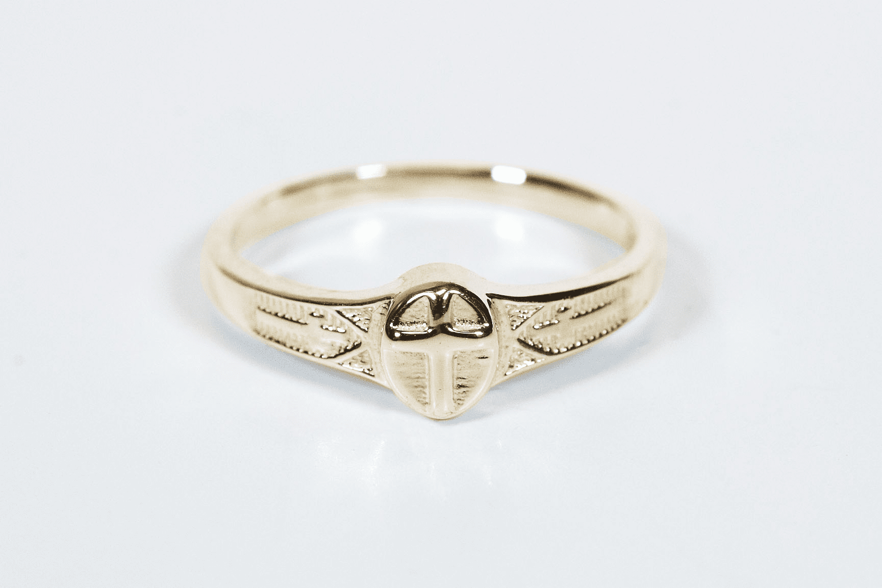Bliss Manufacturing Child's 14kt Yellow Gold Christian Commuion Cross Ring
