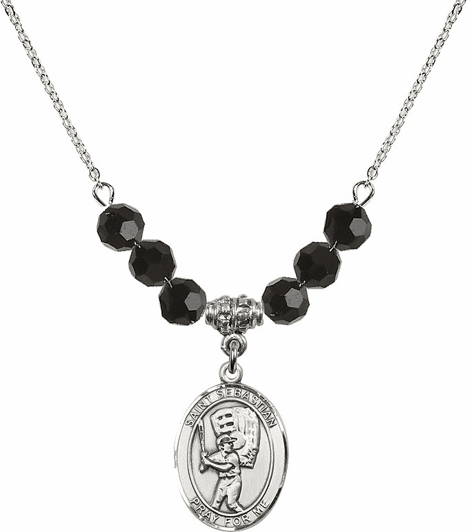 St Sebastian Patron Saint Sports and Music Beaded Necklaces