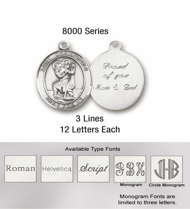 Bliss Manufacturing Engraving for Rosary Centerpieces