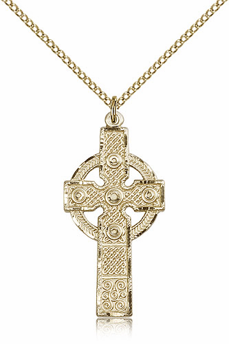 Bliss Manufacturing Gold-filled Kilklispeen Cross w/Chain Necklace