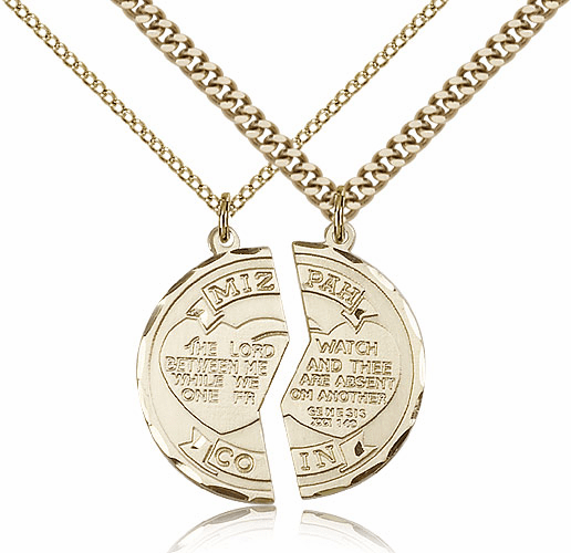 Bliss Manufacturing Gold-Filled Miz Pah Coin Medal Necklace Set