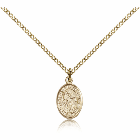 Bliss Manufacturing Gold Filled St. Gabriel the Archangel Pendant