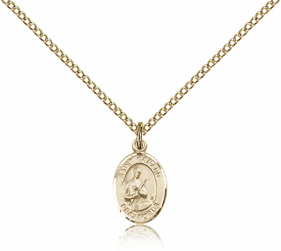 Bliss Manufacturing Gold Filled St. Gerard Majella Pendant