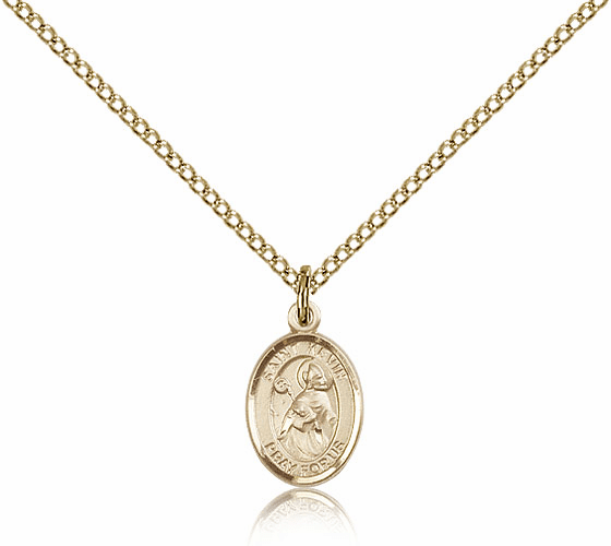 Bliss Manufacturing Gold Filled St. Kevin Saint Pendant Necklace