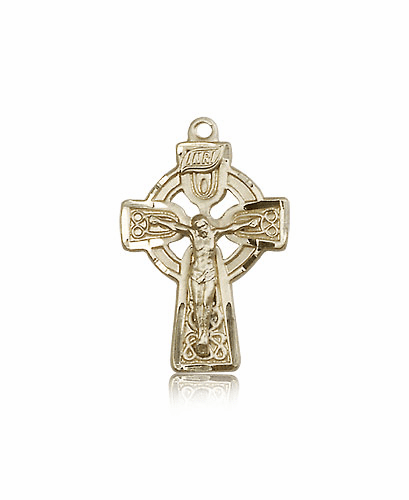Bliss Manufacturing Irish Celtic Crucifix Cross 14kt Yellow Gold Pendant