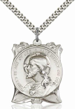 Bliss Manufacturing Sacred Heart of Jesus Medal Necklace