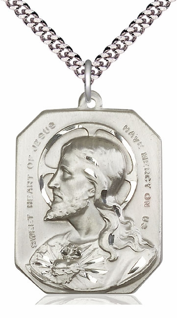 Bliss Manufacturing Sacred Heart of Jesus Pendant Necklace