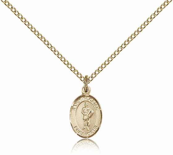 Bliss Manufacturing St. Florian 14kt Gold Filled Pendant Necklace