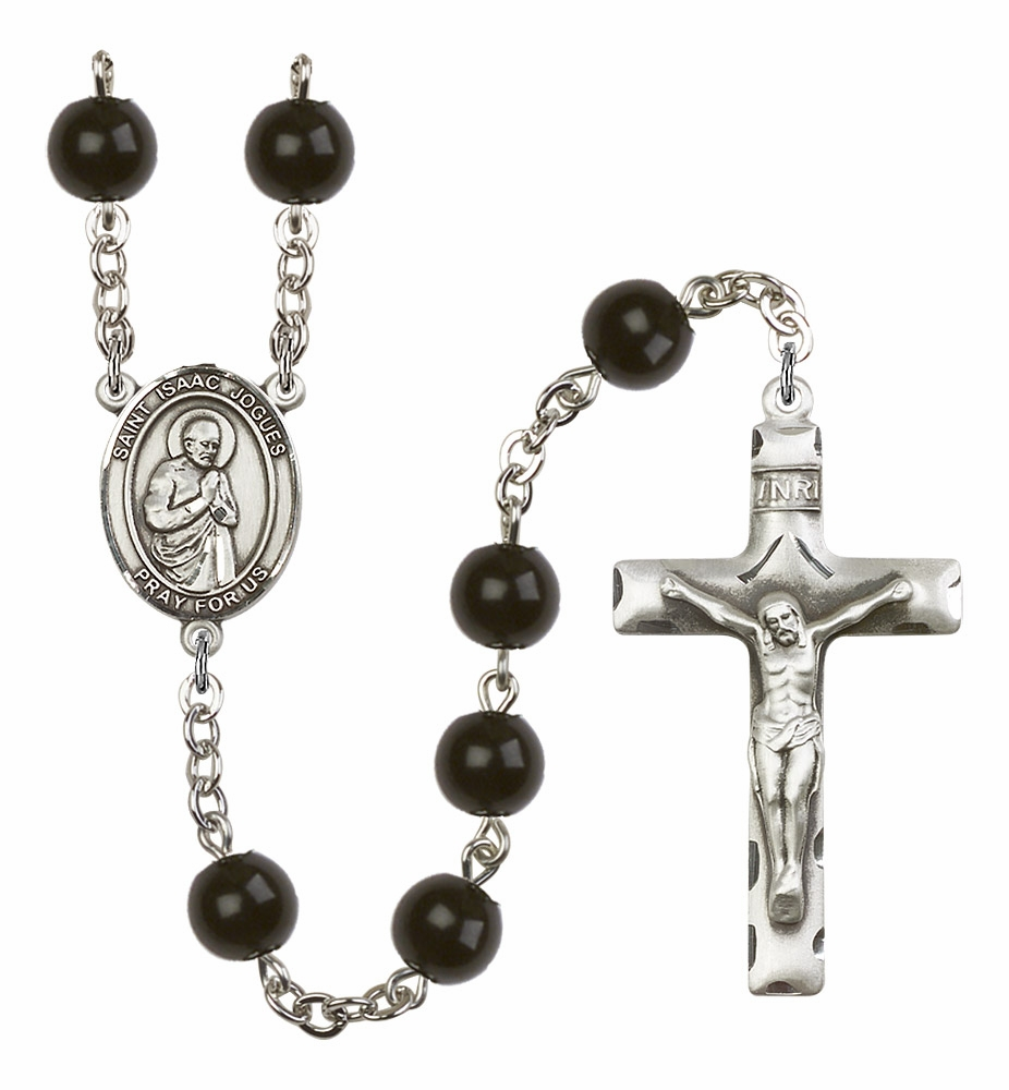 Bliss Manufacturing St Isaac Jogues 7mm Black Onyx Rosary