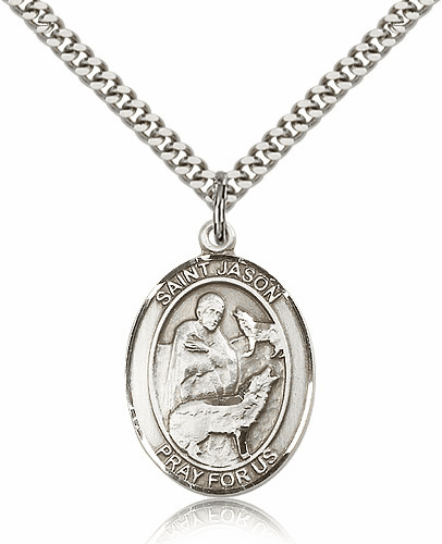 Bliss Manufacturing St Jason Sterling Silver Saint Necklace