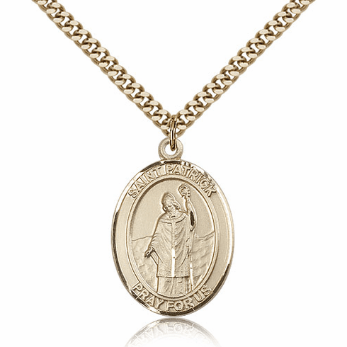 Bliss Manufacturing St Patrick Gold Filled Patron Saint Medal