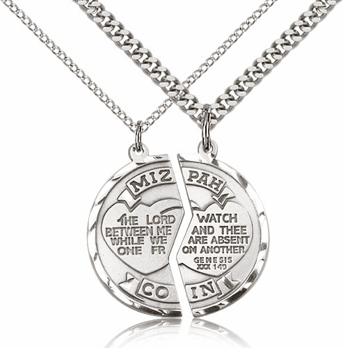 Bliss Manufacturing Sterling-Filled Miz Pah Coin Medal Necklace