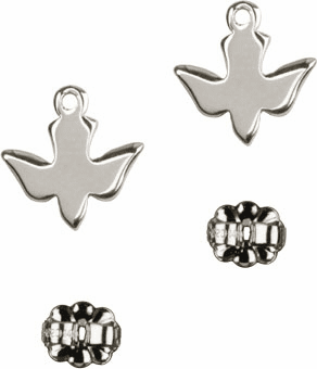 Bliss Manufacturing Sterling Silver Holy Spirit Dove Post Earrings