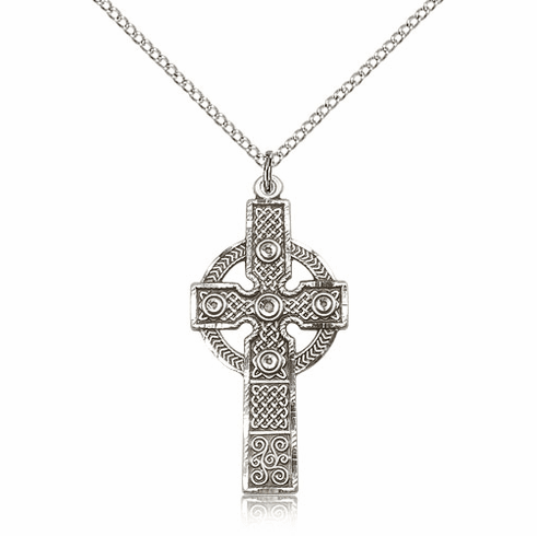 Bliss Manufacturing Sterling Silver Kilklispeen Cross w/Chain Necklace