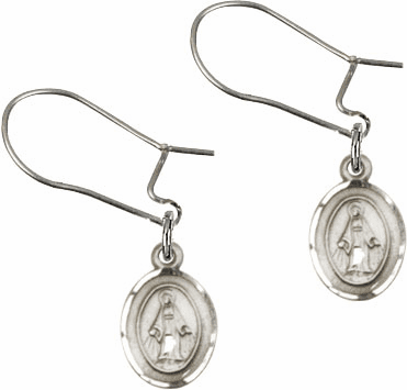 Bliss Manufacturing Sterling Silver Miraculous Medal Dangle Earrings