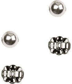 Bliss Manufacturing Sterling Silver Round Ball Post Earrings