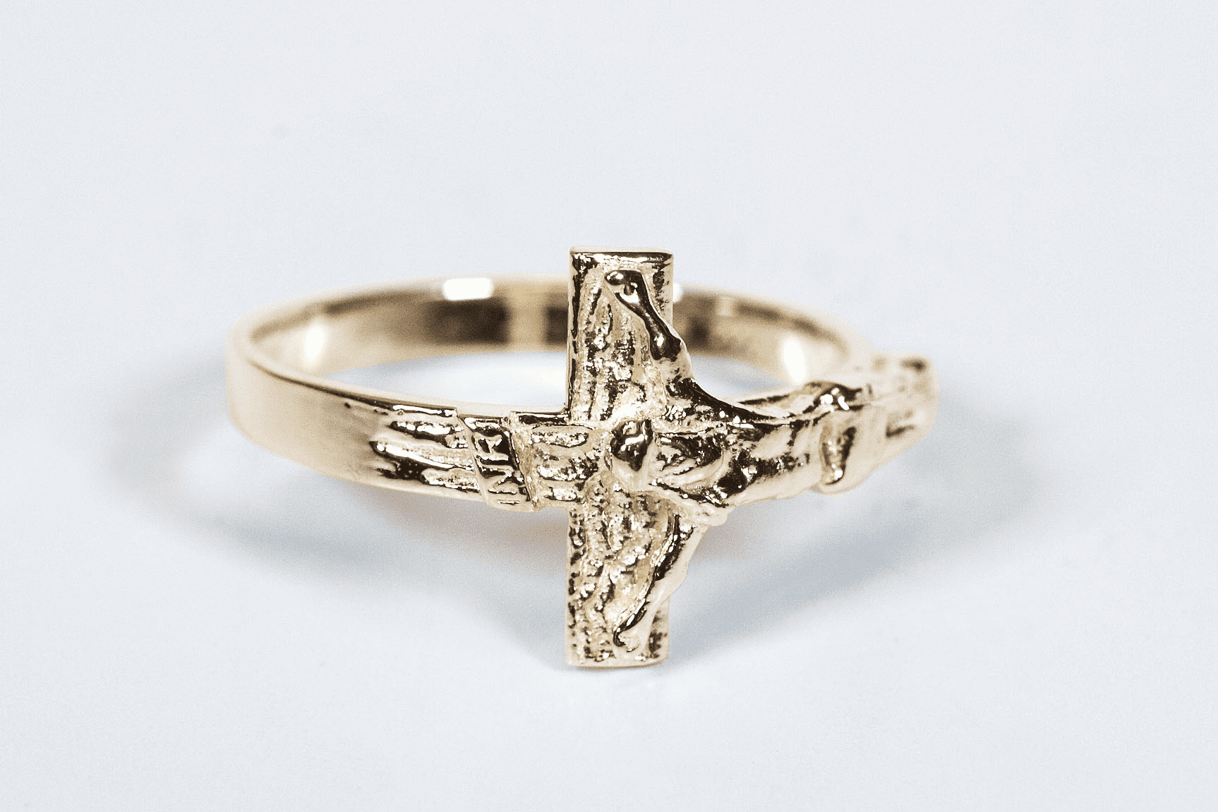 Bliss Manufacturing Women's and Child's 14kt Yellow Gold Jesus Crucifixion Ring