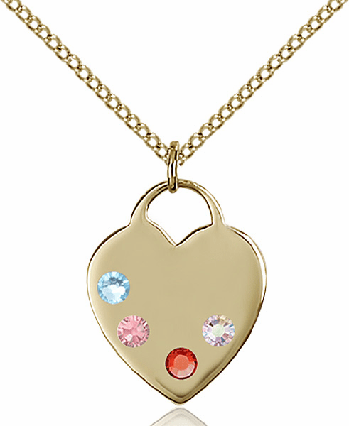 Bliss Medium Heart-shaped Birthstone Pendants