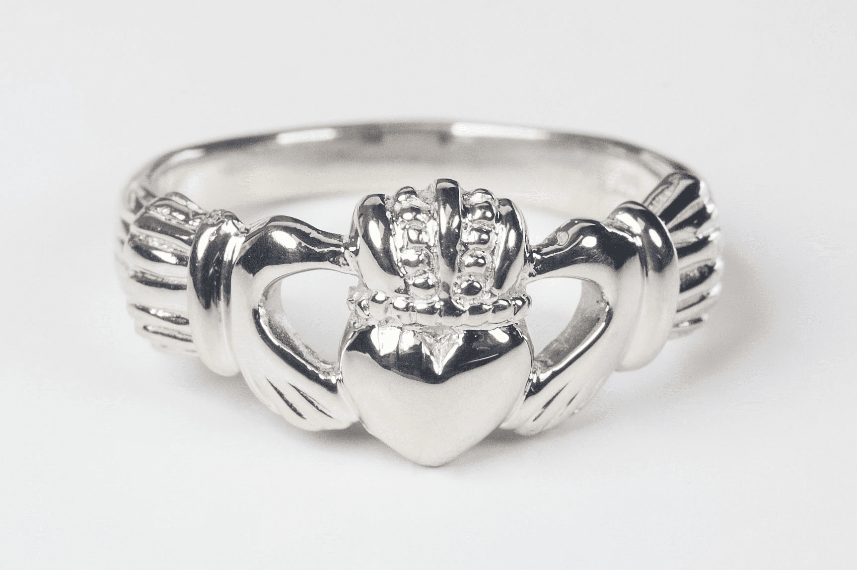 Bliss Men's and Women's Sterling Silver Irish Claddagh Ring