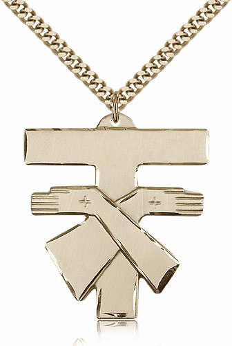 Bliss Mfg 14kt Gold-Filled Franciscan Cross Pendant Necklace