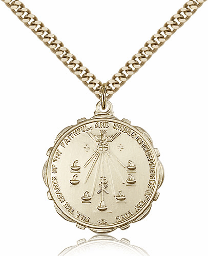Bliss Mfg 14kt Gold-Filled Seven Gifts of the Holy Spirit Pendant Necklace