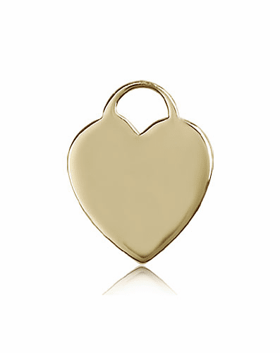 Bliss Mfg 14kt Gold Heart Medal Pendant
