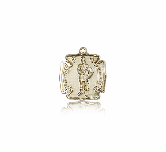 Bliss Mfg 14kt Gold St Florian Patron Saint Medal