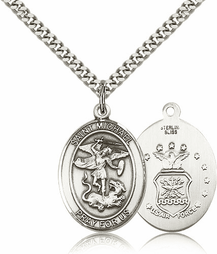 Air Force Sterling Silver St Michael the Archangel Pendants