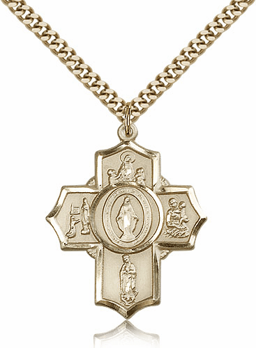 Bliss Mfg Apparitions 14kt Gold-Filled Five-Way Cross Necklace