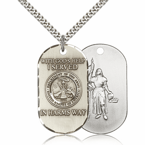 Bliss Mfg Military Army St. Joan of Arc Necklace