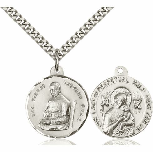 Bliss Bishop Newman and O/L of Perpetual Help Medal Necklace