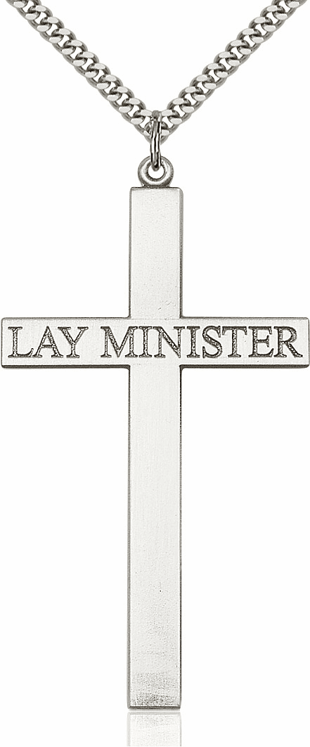 Bliss Mfg Christian Church Sterling Lay Minister Cross Necklace