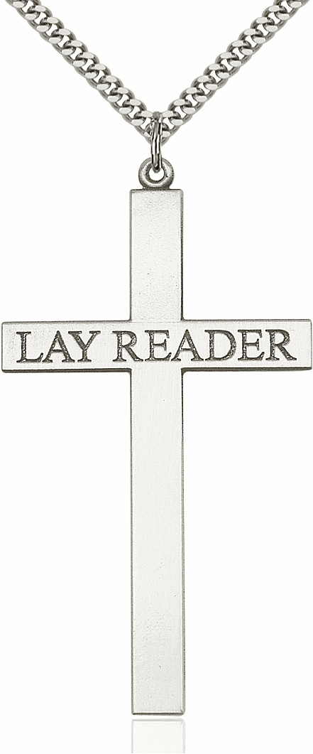 Bliss Mfg Church Lay Reader Sterling Silver Cross Necklace