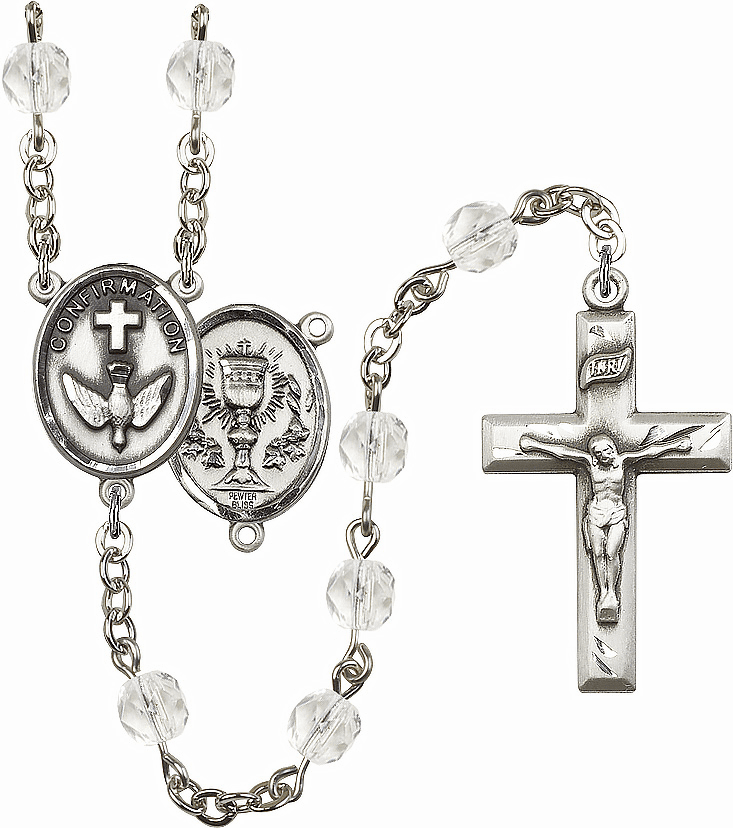 Bliss Mfg Confirmation Chalice April - Crystal Birthstone Rosary