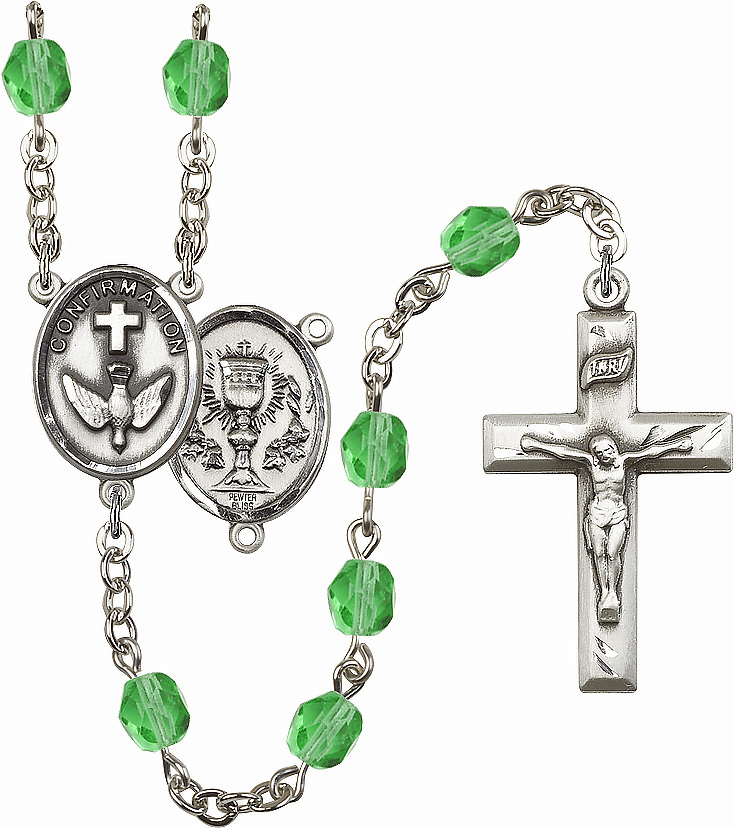 Bliss Mfg Confirmation Chalice August Peridot Birthstone Rosary