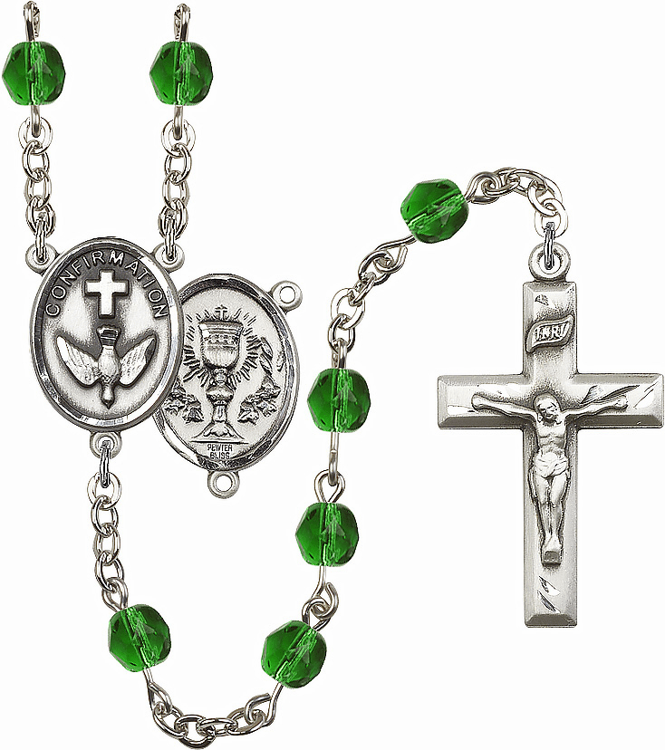 Bliss Mfg Confirmation Chalice May Emerald Birthstone Rosary