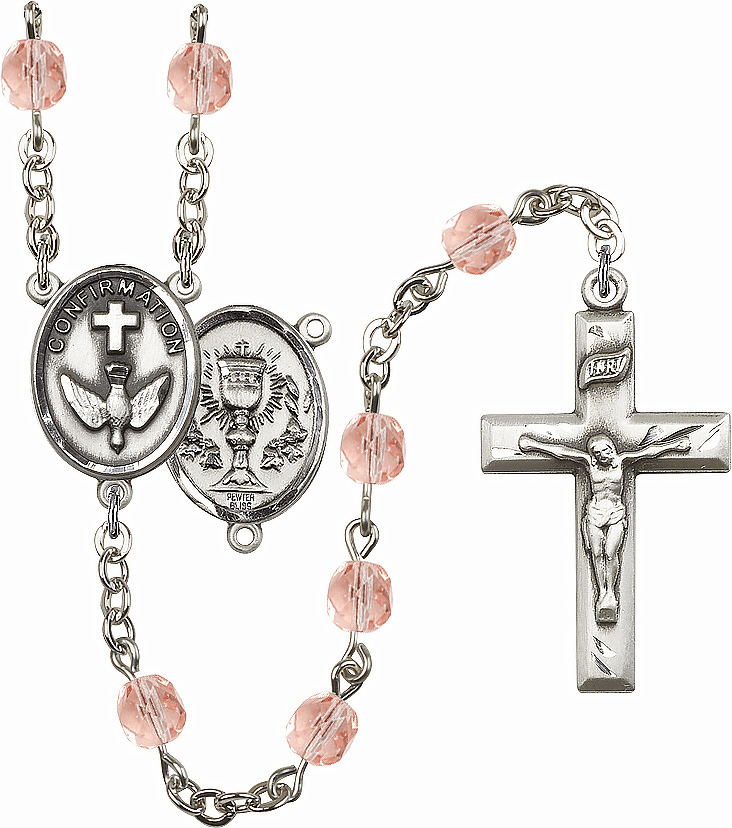 Bliss Mfg Confirmation Chalice October Rose Birthstone Rosary