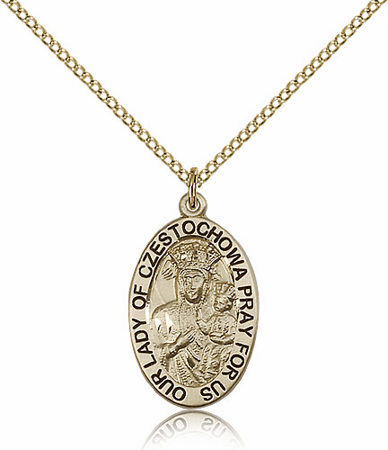 Bliss Mfg Gold Filled Our Lady of Czestochowa Pendant Necklace